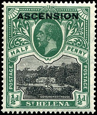 Postage stamps and postal history of Ascension Island - The first Ascension stamps were overprinted stamps of Saint Helena.