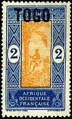 Briefmarke Französisch-Westafrikas, 1921