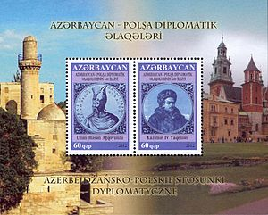 Azerbaijan–Poland relations - Stamp of Azerbaijan, 2012