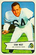 Stan West - 1954 Bowman.jpg