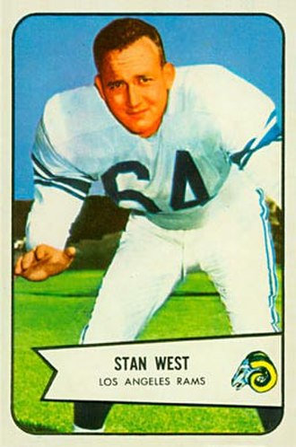 Stan West - West on a 1954 Bowman football card