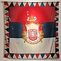Standard of Milan Obrenovic king of Serbia, Historical Museum of Serbia.jpg