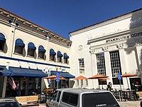 Starbucks at Wells Fargo building, Plaza, 101 E. Chapman Ave., Orange, California.jpg