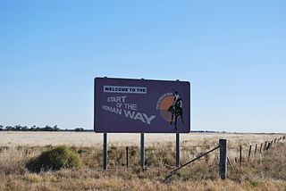 Kidman Way highway in New South Wales