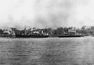 William Pettigrew - Ships anchored at Pettigrew's wharf, Maroochydore, 1882
