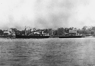 William Pettigrew - Ships anchored at Pettigrew's wharf, Maroochydore, 1882