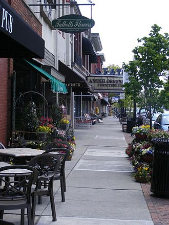 Westerville, Ohio - Shops lining State Street in uptown Westerville