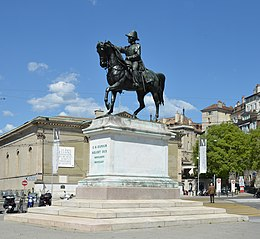 General Dufour statue, square Neuve, Geneva