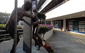 Hong Kong International School - A statue in the Hong Kong International School