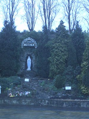 Carfin Grotto - Statue of Mary at Carfin