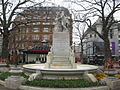 Statue of William Shakespeare surrounded by dolphins, Leicester Square, London - geograph.org.uk - 1228761.jpg