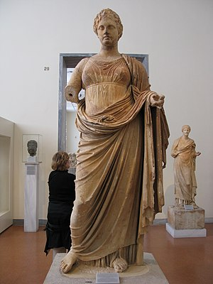 Themis of Rhamnous - The Themis of Rhamnous as displayed in the National Archaeological Museum, Athens
