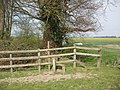Stile near Junction of Public Footpaths - geograph.org.uk - 385390.jpg