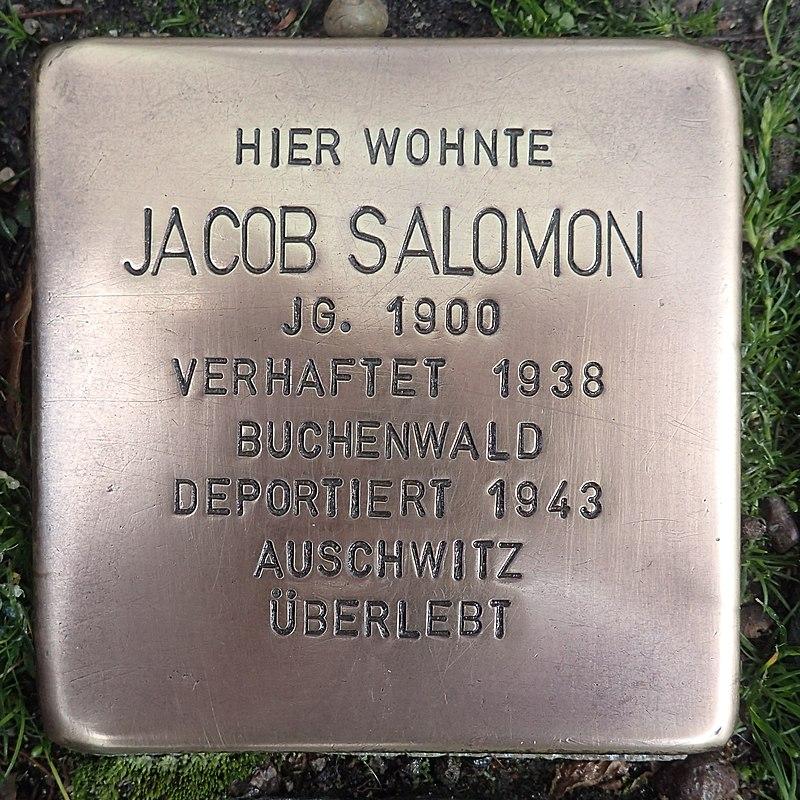Stolperstein für Jacob Salomon