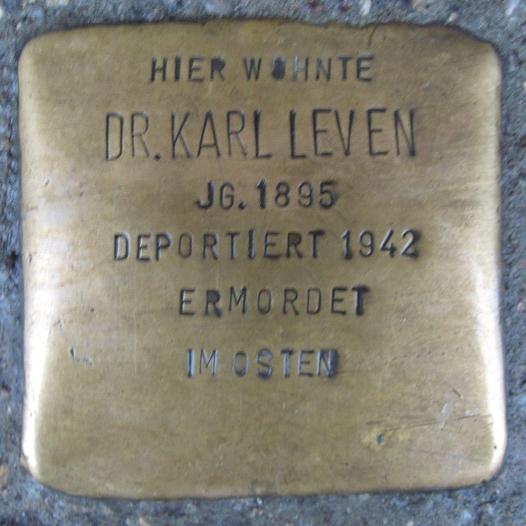Stolperstein für Dr. Karl Leven