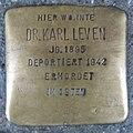 Stolperstein Düren Hohenzollernstraße 13 Dr Karl Leven.JPG