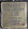 Stolperstein Manteuffelstr 21 (Kreuz) Rosa Abraham.jpg