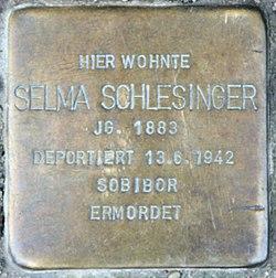 Photo of Selma Schlesinger brass plaque