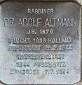 Stolperstein Salzburg, Dr. Adolf Altmann (Lasserstraße 8).jpg