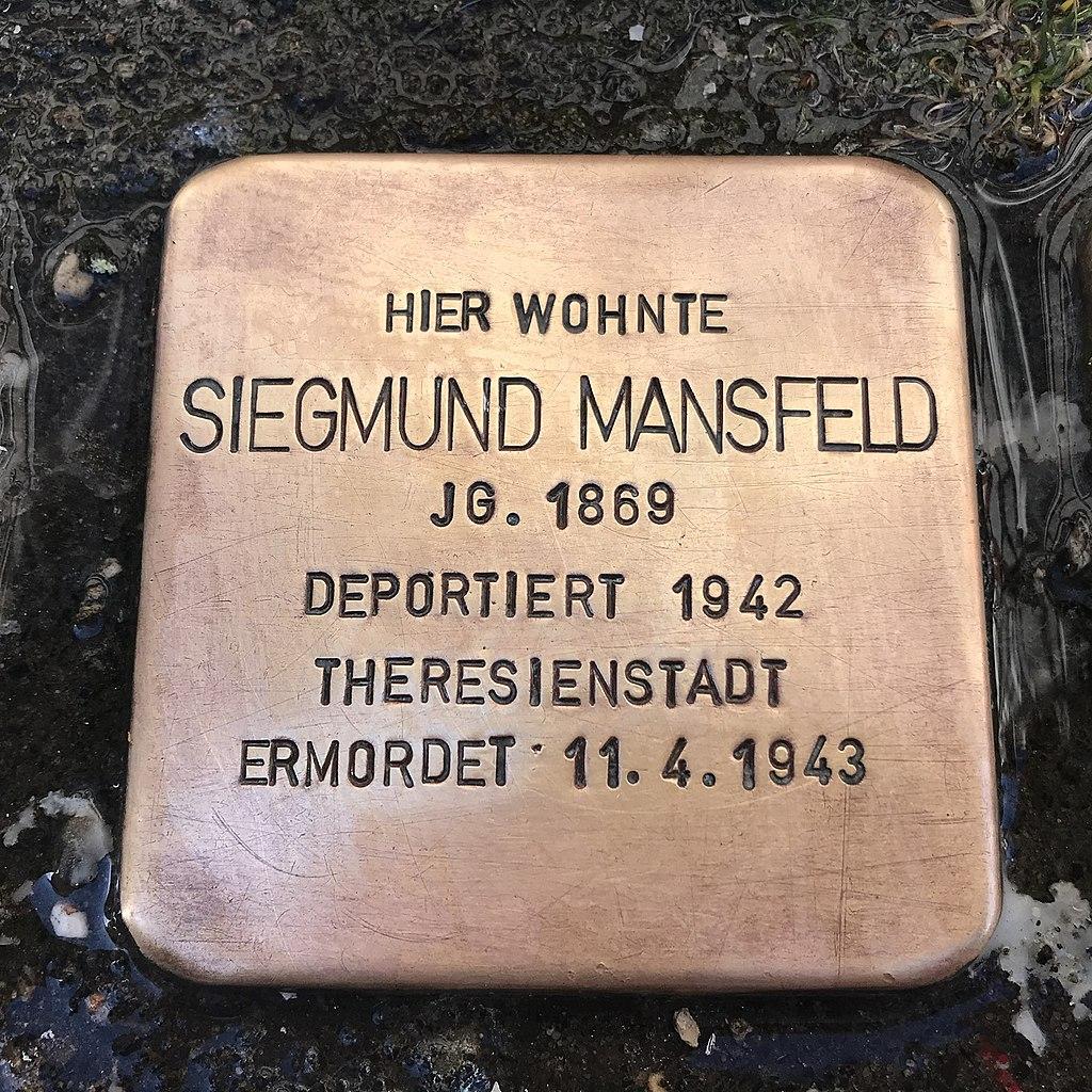 Stolperstein Siegmund Mansfeld in Lüchow (Wendland).jpg