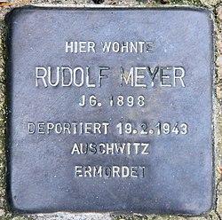 Photo of Rudolf Meyer brass plaque