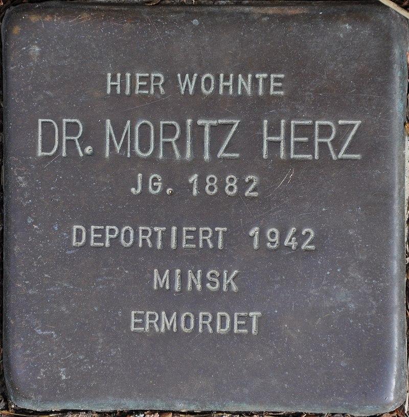 Stolpersteine Euskirchen-Flamersheim, Moritz Herz (Große Höhle 17).jpg