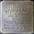 Stolpersteine Köln, Johanette Oppenheimer (Severinstrasse 199).jpg
