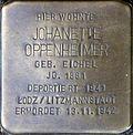 Stumbling block for Johanette Oppenheimer (Severinstrasse 199)
