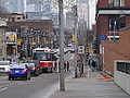 Streetcars on the Queen Street bridge over the Don River, 2014 12 03 (28) (15917614166).jpg