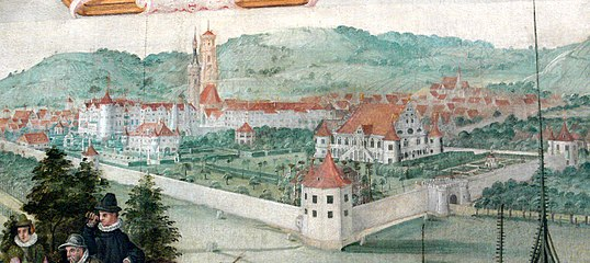 Stuttgart Lusthaus Landtafel 1589.jpg