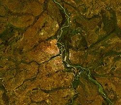 Satellitbild av jur och omgivningar vid wau foto nasa