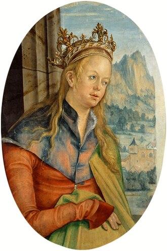 Hans von Kulmbach - St Catherine of Alexandria (1511), Czartoryski Museum, Kraków