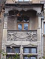 Sun, putti, owl and rooster, Gschwindt Mansion, Brody Street, 2016 Budapest.jpg
