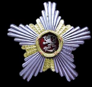 Order of the Lion of Finland - Image: Suomen Leijonan suurristin rintatähti
