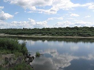 Sura River - The Sura River near Alatyr.
