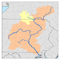 Susquehanna River watershed with the Chemung River watershed highligted.png