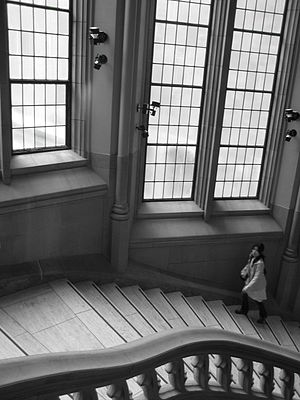 Suzzallo Library - The grand staircase of the Suzzallo Library