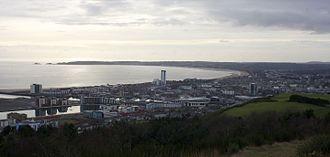 Swansea - Image: Swansea from Kilvey Hill