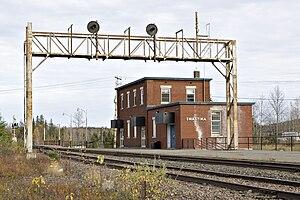 Swastika, Ontario - Train station in Swastika, Ontario