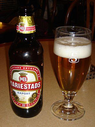 Beer in Sweden - Beer made by Mariestads