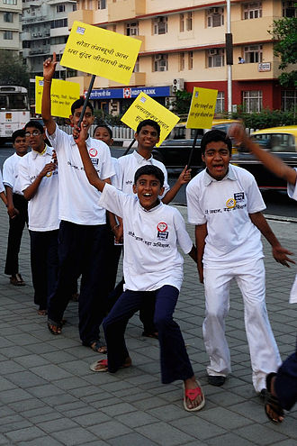 Tobacco control - Tobacco control activists in Mumbai, 2009