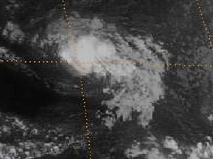 1983 Atlantic hurricane season - Image: TD 2 30 jul 1983 1501Z