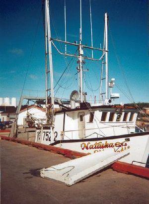 Port Hope Simpson - the Natasha, Mary's Harbour, 25 July 2002. (Port Hope Simpson Off the Beaten Path by Llewelyn Pritchard)