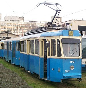 TMK 101 - TMK 101 in the tram depot