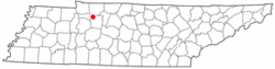 Location of Slayden, Tennessee