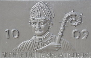 Memorial plaque to Thietmar von Merseburg
