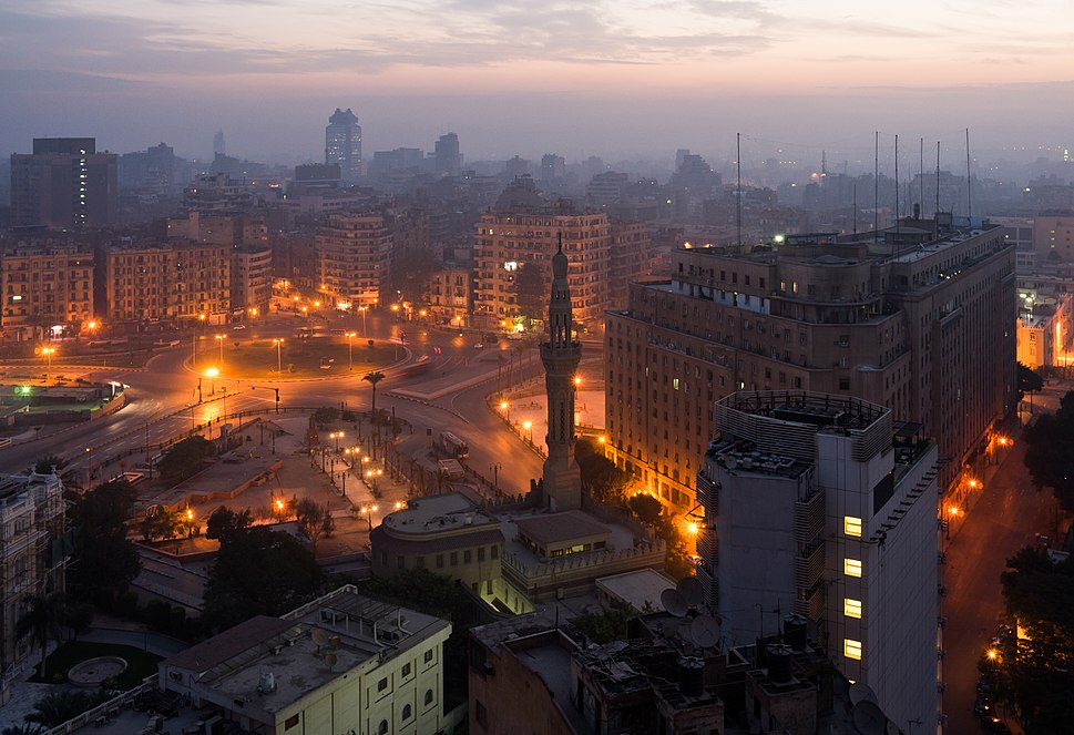 Tahrir Square, Cairo, in the early morning - c