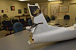 Tail section of a target drone hit by HEL MD laser.jpg