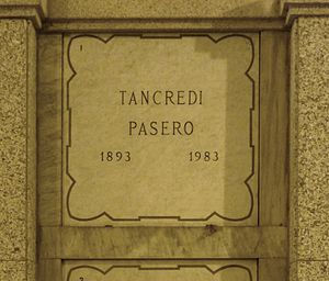 Tancredi Pasero - Pasero's grave at the Monumental Cemetery of Milan in 2015