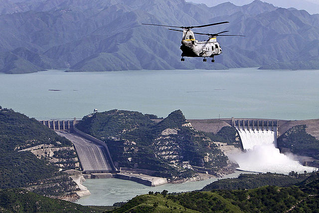Tarbela Dam, the largest earth filled dam in the world, was constructed in 1968.
